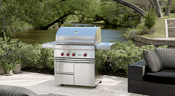Create An Outdoor Kitchen With A Wolf Outdoor Bbq Grill Nicholas
