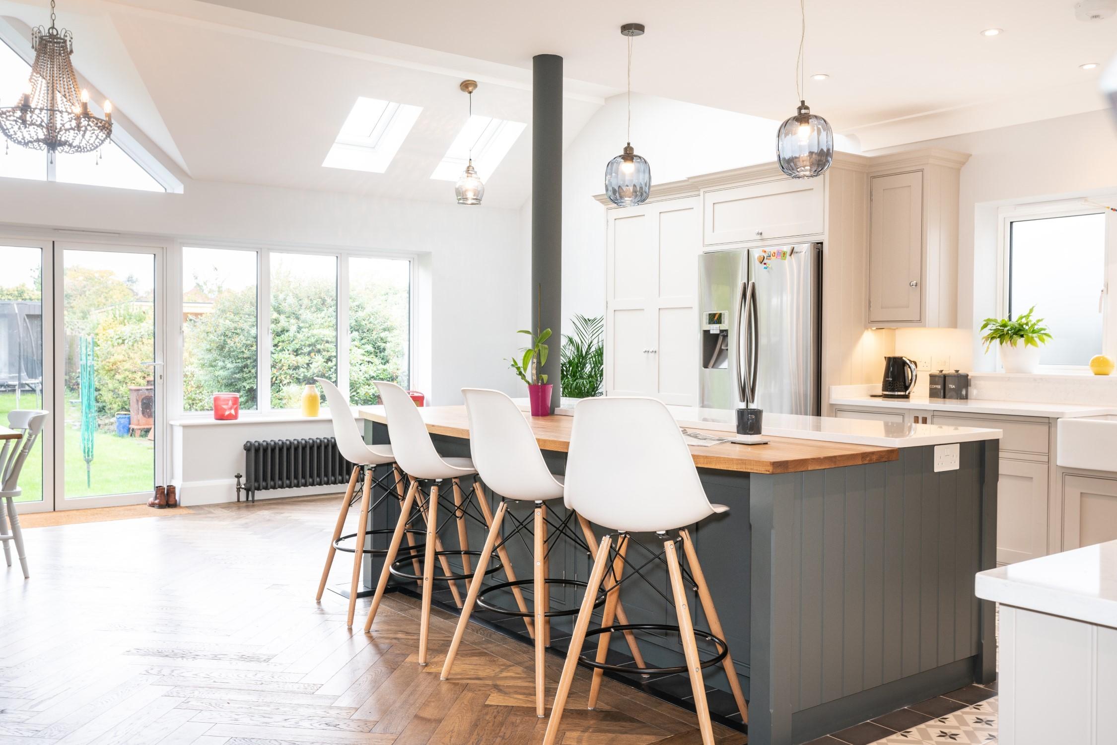 Herringbone Flooring in a Handmade Kitchen   Nicholas Bridger