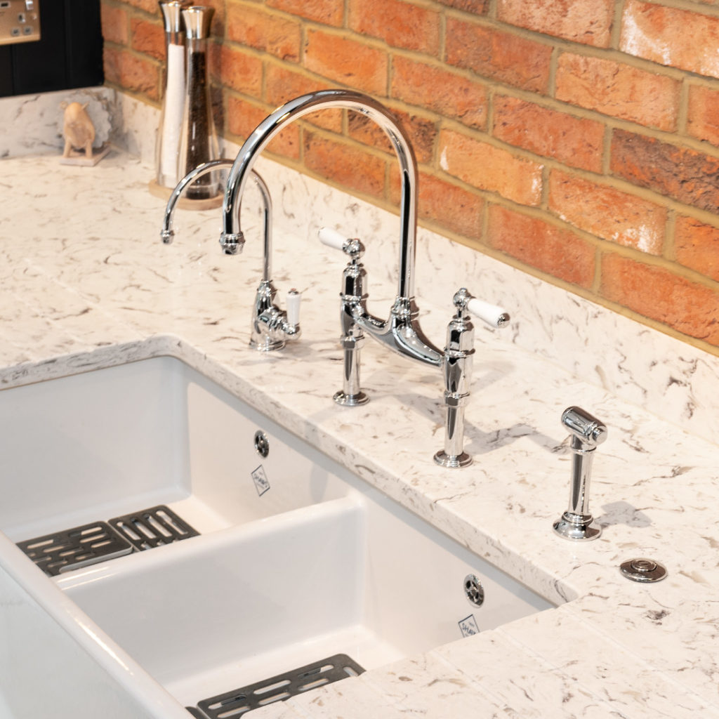 Stunning Perrin & Rowe Taps in Pewter